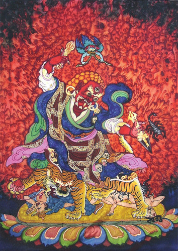 Dorje Drolod Greeting Card, by Neljorma Tendron