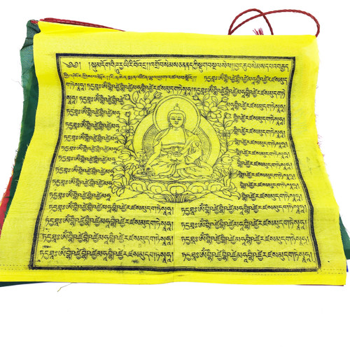 5 Color Prayer Flag, Medicine Buddha (Strand of 25 flags)