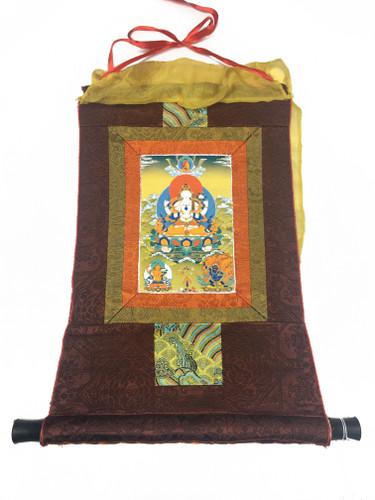 Mini Chenrezig Print Thangka