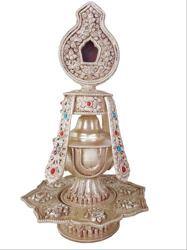 Tsebum (Long Life Vase), Copper/Silver-Plated