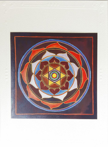 First Nature Mandala Card, Star