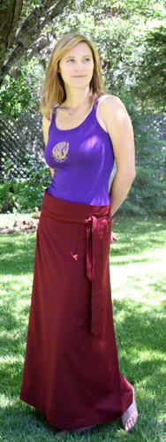 Burgundy Meditation Skirt Uni-sex