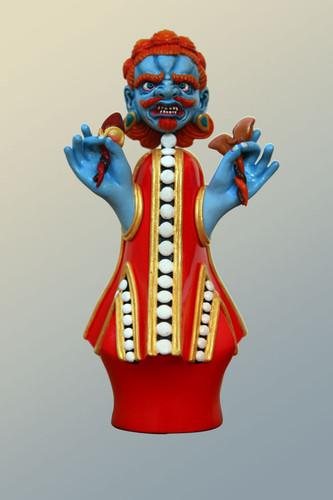Wrathful Food Offering (Drakpo Zhalse), Blue Face