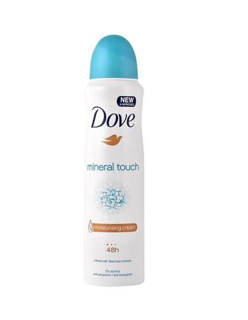 Dove Antiperspirant Deodorant Spray, Mineral Touch, 150 ml