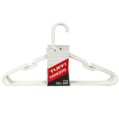 Hangers Plastic White, Pack of 6 pcs