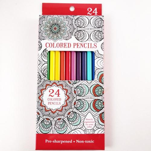 Leisure Arts Colored Pencils, Pre Sharpened, 24 Pencils