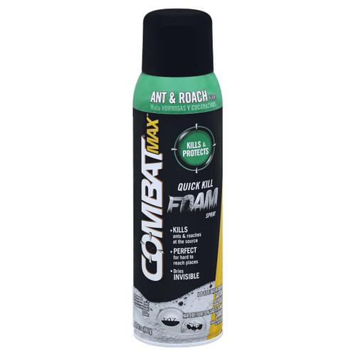 Combat Max Ant & Roach Killer Foam Spray, 17.5 oz