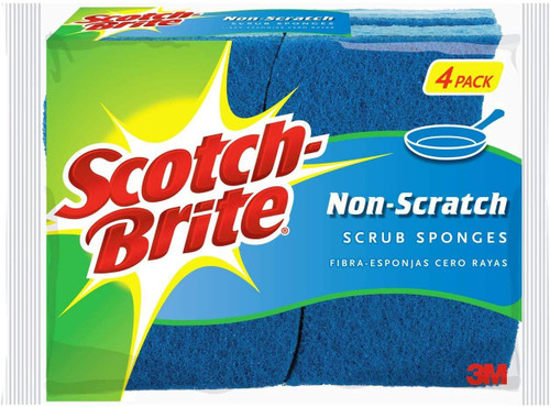 Scotch-Brite Sponge Non Scratch, Blue, Pack of 4