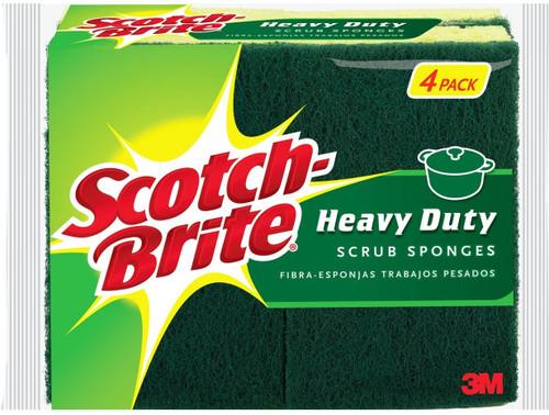 Scotch-Brite Heavy Duty Scrub Sponges, Pack of 4