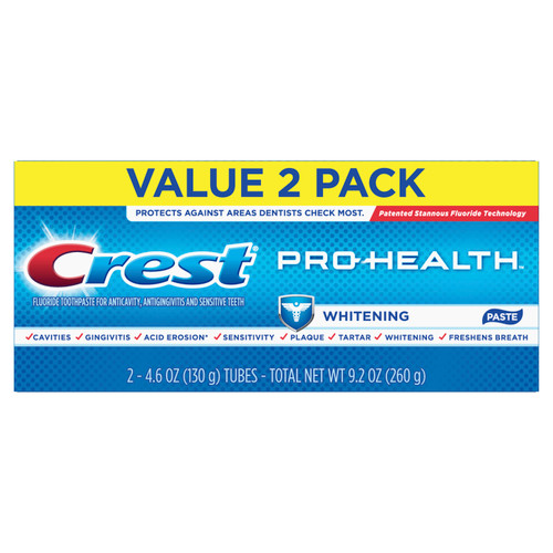 Crest Pro-Health Toothpaste, Whitening, 2 Pack, 4.6 oz Each