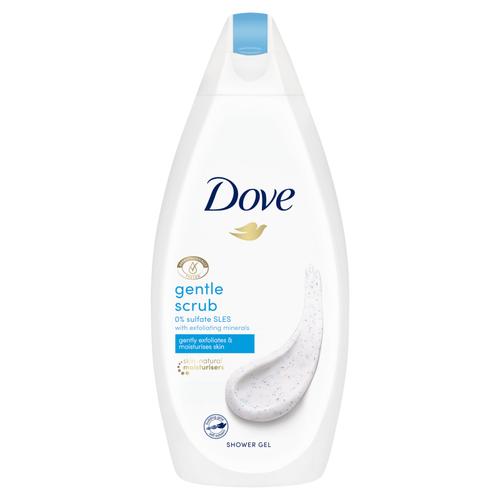 Dove Body Wash, Gentle Scrub Exfoliating, 500 ML