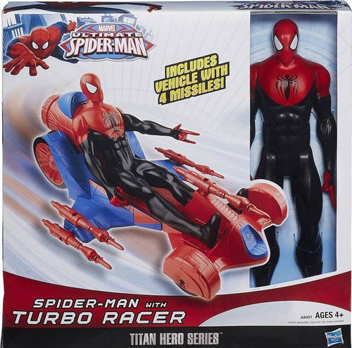 Marvel Ultimate Spiderman Action Figure with Turbo Racer