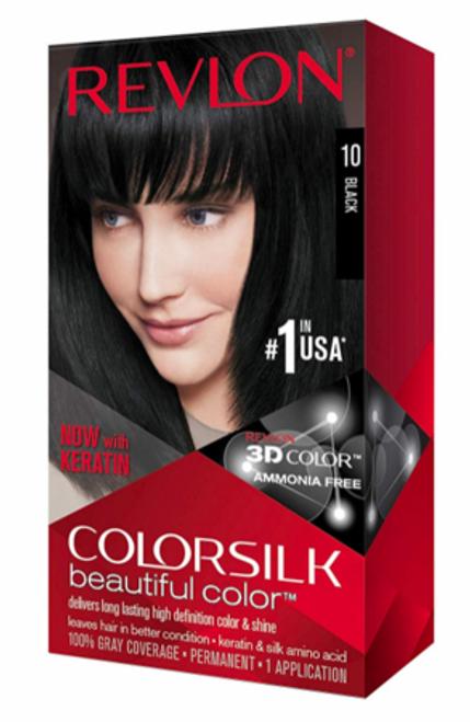 Revlon ColorSilk Hair Color, Black #10