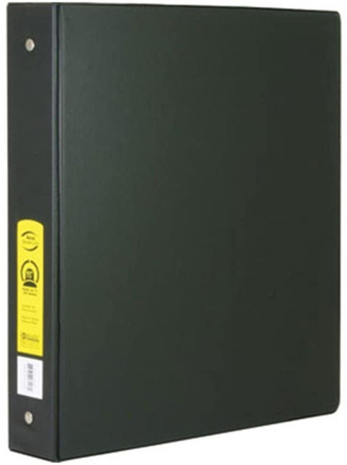 "3-Ring View Binder w/2-Pockets, 1.5"", Black"