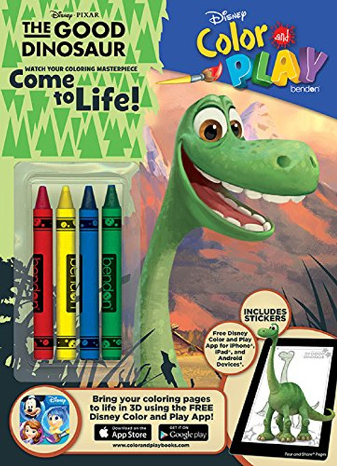 Disney Color & Play Activity Book with Crayons, The Good Dinosaur, 32 Pages, 4 Crayons
