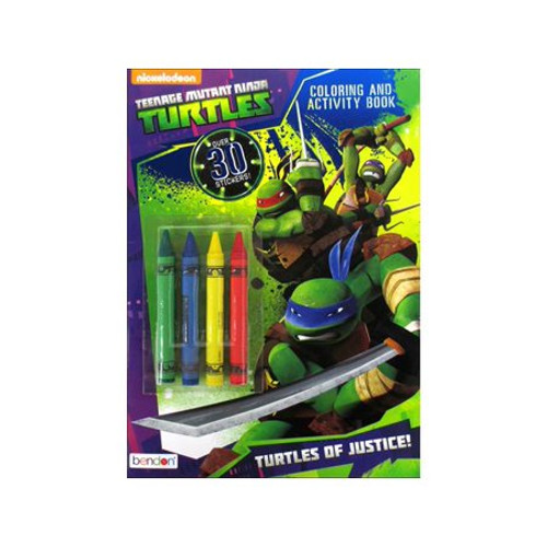 Teenage Mutant Ninja Turtles Color & Activity Book with Crayons, 32 Pages, 4 Crayons