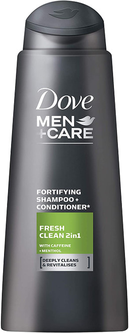 Dove Men+Care Fresh & Clean 2 in 1 Shampoo & Conditioner, 400 mL