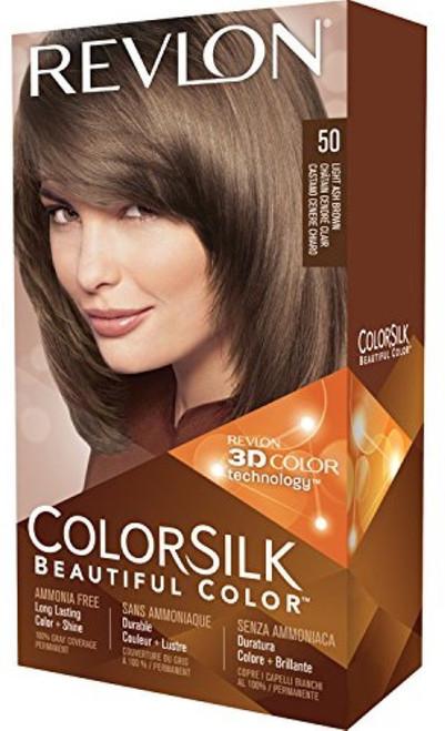 Revlon Colorsilk Beautiful Color, Light Ash Brown 50