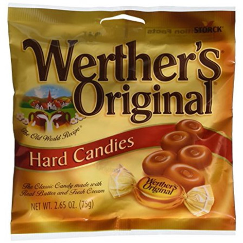 Werther's Hard Candies, Original, 2.65 Oz Bag