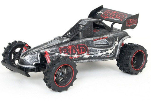 New Bright RC 'Bad' Street Veloity Vehicle with Remote Control, 1:14, B;acl & Red