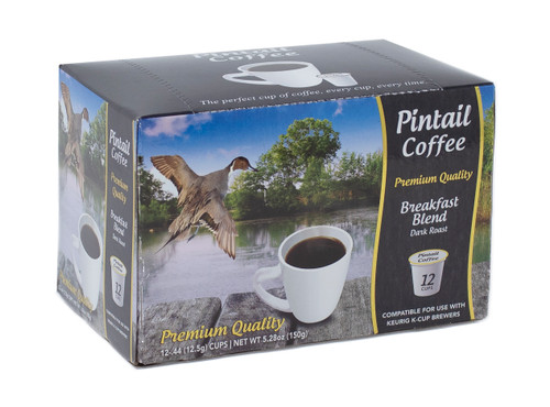 Pintail Coffee Pods Breakfast Dark Roast, 12 ct