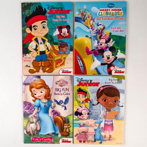 Coloring Books- Disney Junior 96pg 4 Asst