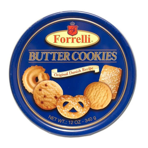 Butter Cookies 12oz Forelli Tin