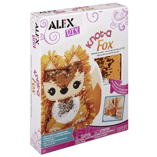 Alex DIY Knot-a Fox Sequin Plush 13pc Set