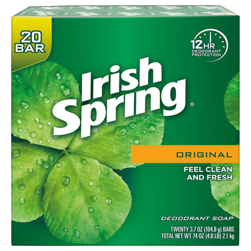 Soap- Irish Spring 20pk- Original 3.75oz