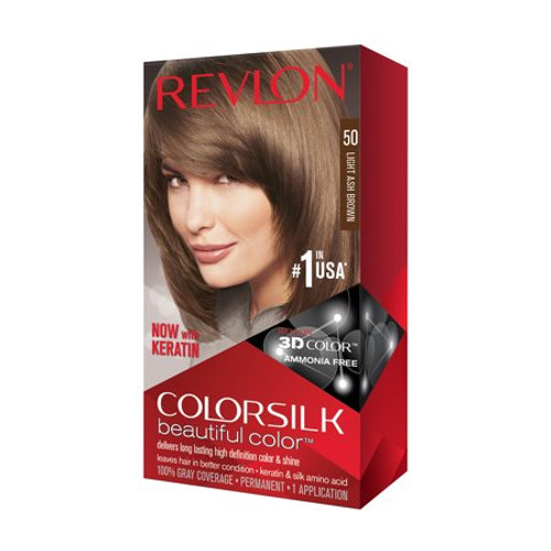 Hair Color- Colorsilk Light Ash Brown #50
