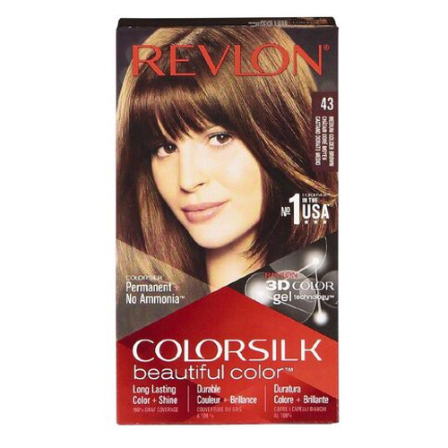 Hair Color- Colorsilk Medium Golden Brown #43