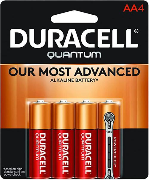 Batteries- Duracell Quantum AA 4pk