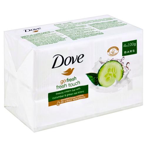 Soap- Dove 4pk- Go Fresh Touch Cucumber 100g