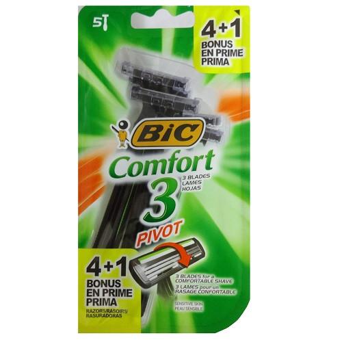 Razors- Bic Comfort 3 Pivot 5ct