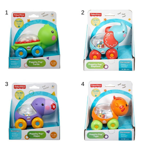 Fisher Price Poppity Pop Pals- Asst