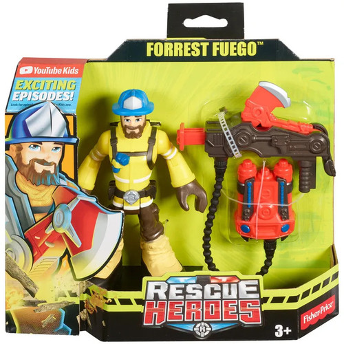 Rescue Heroes Forrest Fuego Figure w Accessories