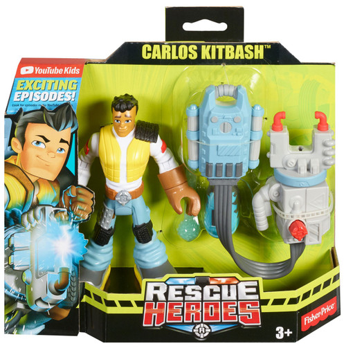 Rescue Heroes Carlos Kitbash Figure w Accessories