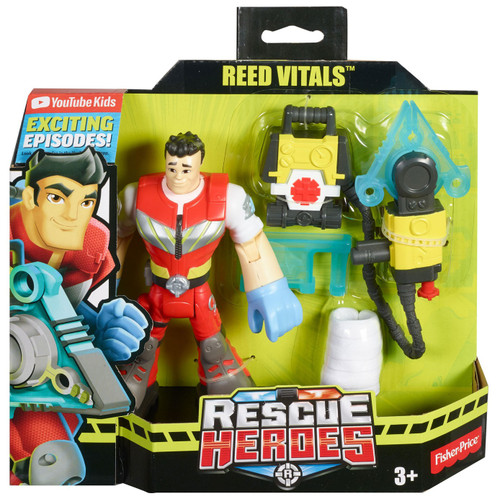 Rescue Heroes Reed Vitals Figure w Accessories