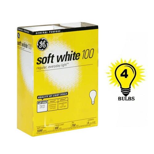 Light Bulbs- GE Basic Soft White 100W 4pk