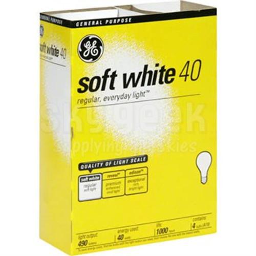 Light Bulbs- GE Basic Soft White 40W 4pk