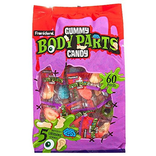 Frankford Gummy Body Parts Candy 60ct 15.87oz