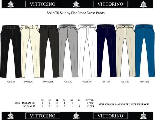 Mens Better Dress Pants- Skinny 30-40 Black