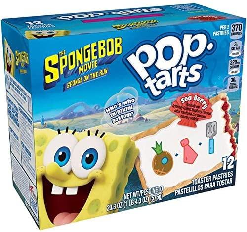 Pop Tarts Spongebob Movie Sea Berry 12ct 20.3oz