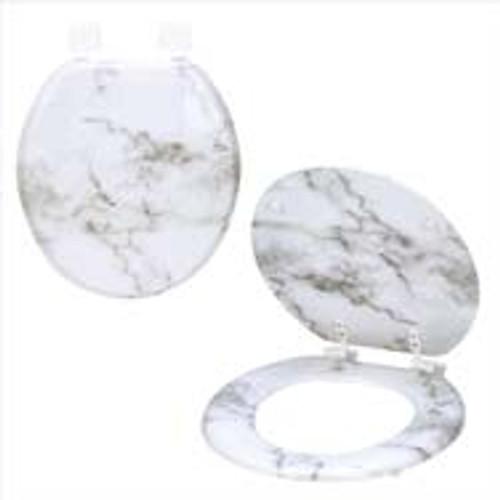 Toilet Seat- Marble- White