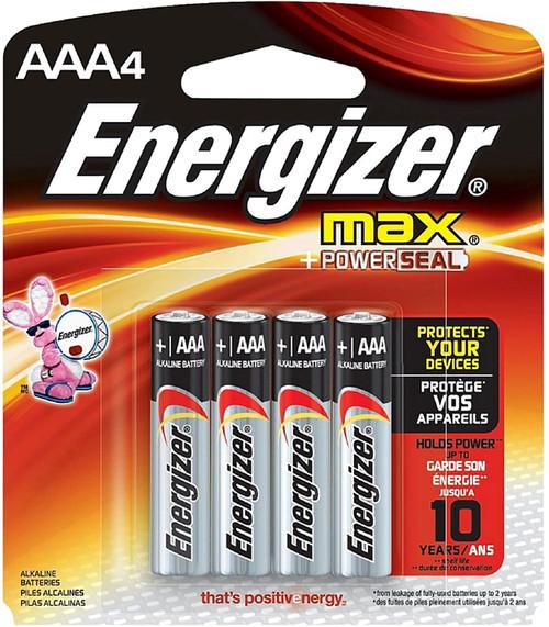 Batteries- Energizer Max AAA 4pk