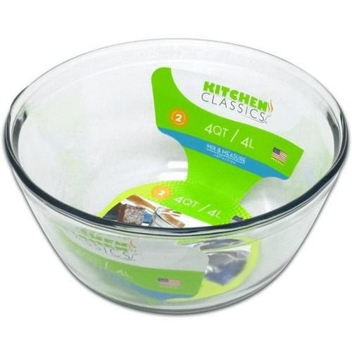 Mixing Bowl Glass 4qt