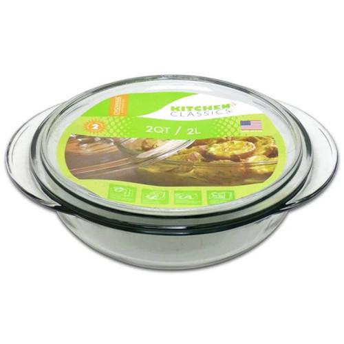 Bake Dish 2qt Casserole w/ Lid