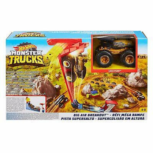 Hot Wheels Monster Trucks Big Air Breakout Set