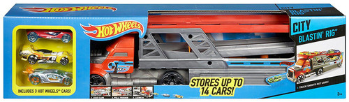 Hot Wheels City Blastin Rig w 3 Cars