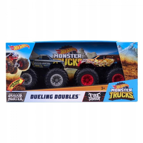 Hot Wheels Monster Trucks 2pk 1:43 Scale Asst